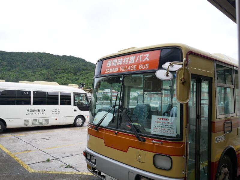 座間味島のバス